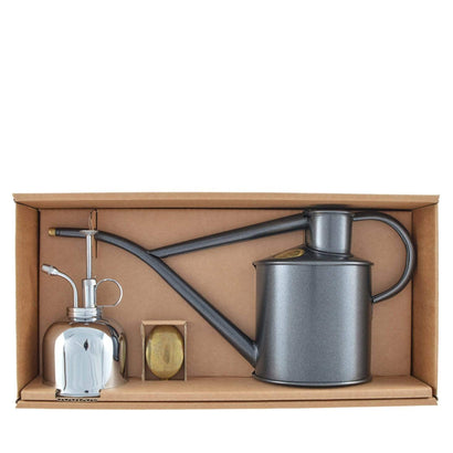 Haws Classic Watering Set - Graphite + Nickel
