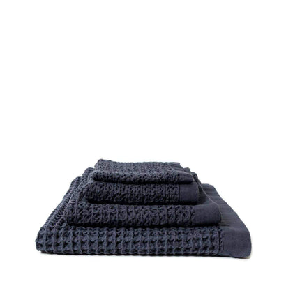 Kontex Lattice Hand Towel - Navy