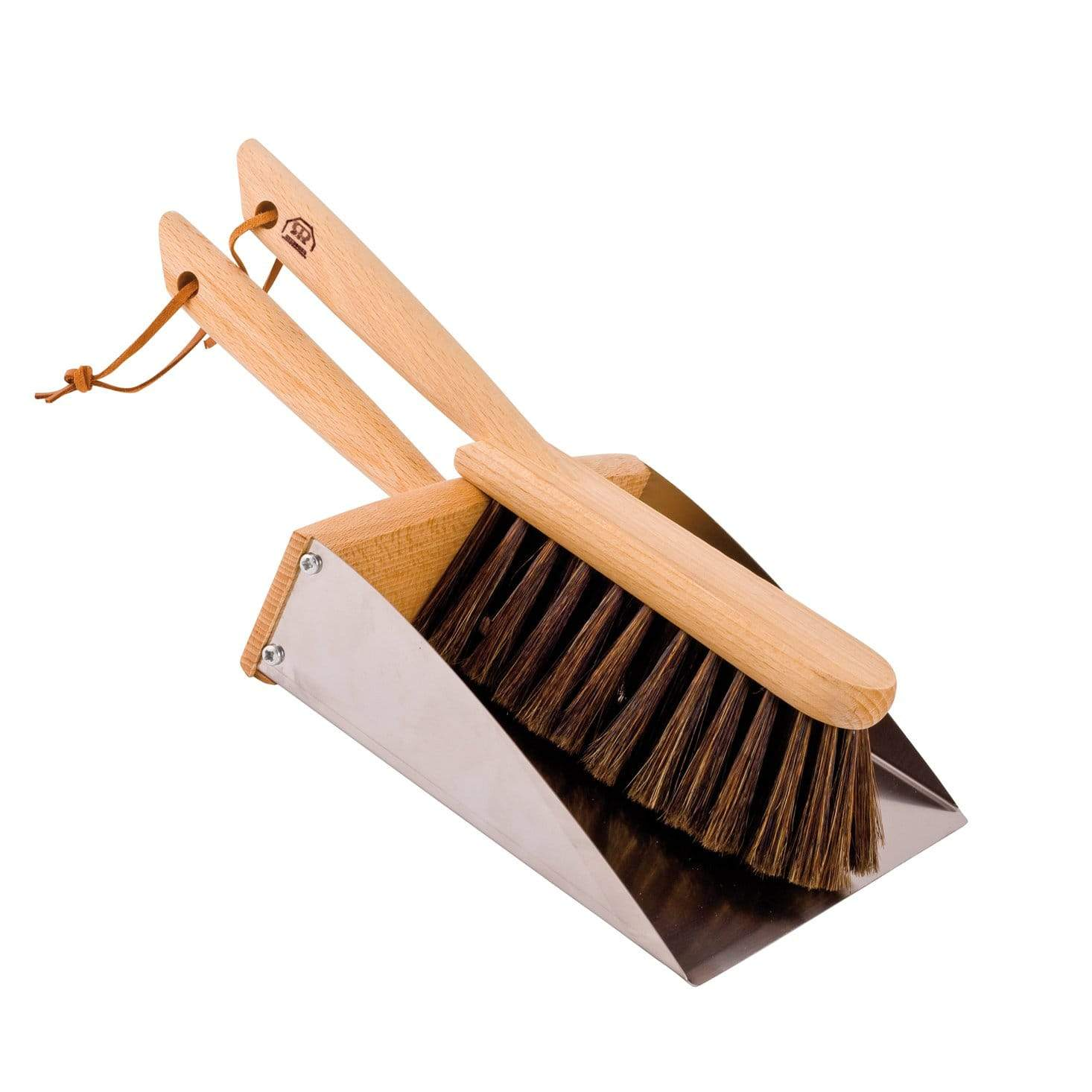Redecker Dust Pan & Brush Set with Magnet