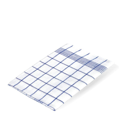 Redecker Linen Tea Towel - Blue Check