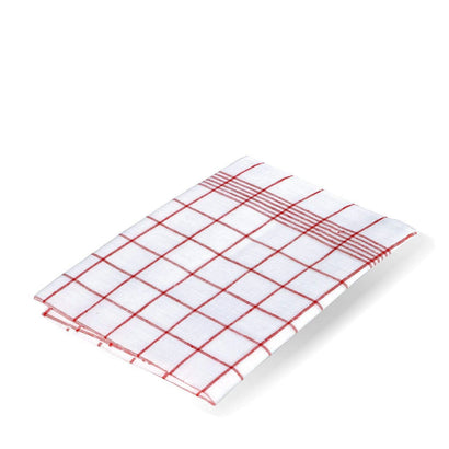 Redecker Linen Tea Towel - Red Check