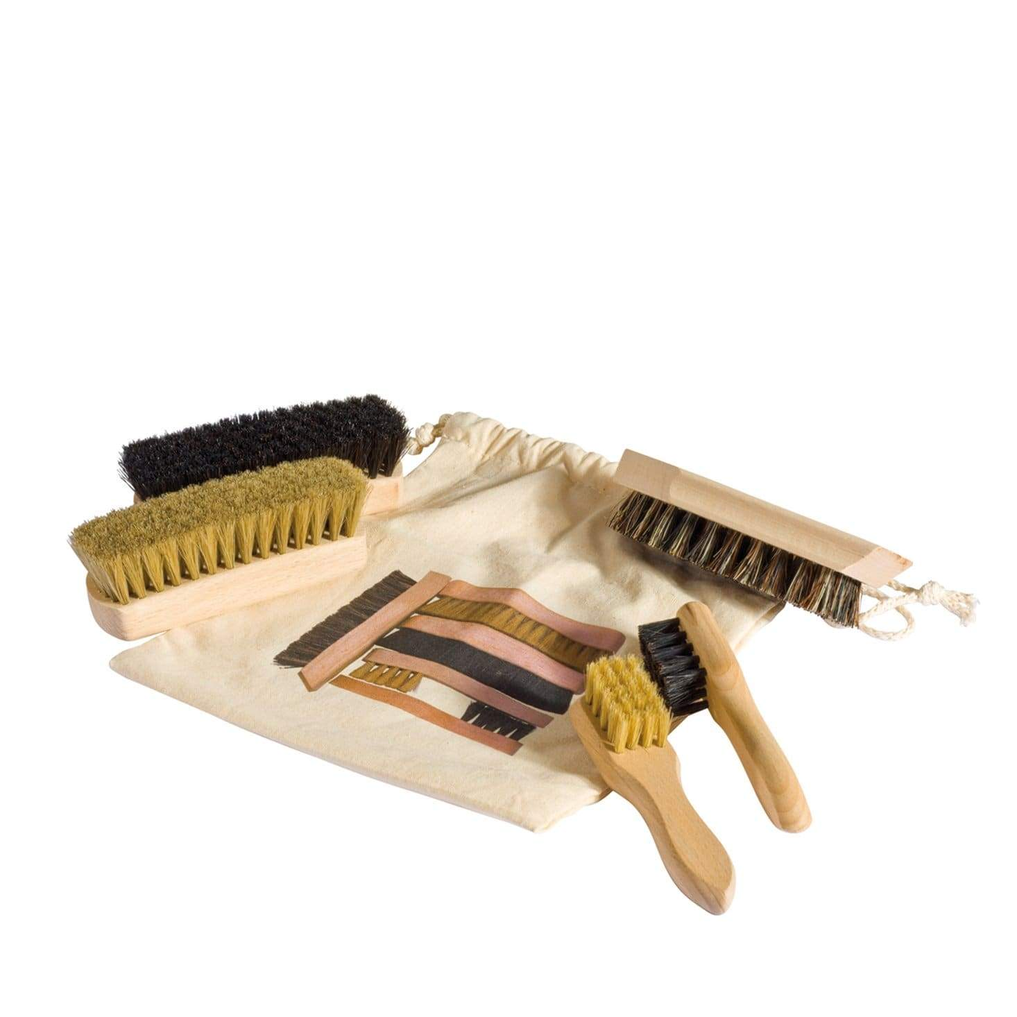 Redecker Shoe Shine Kit + Bag