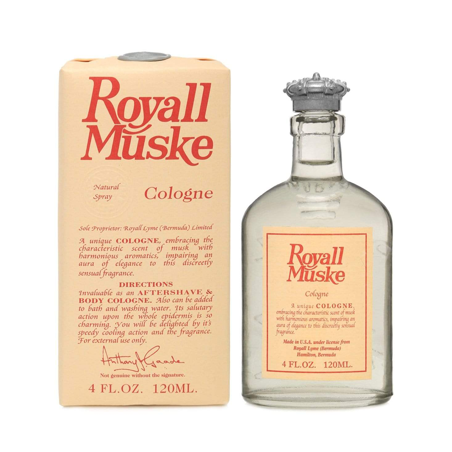 Royall Muske Natural Spray - 120ml