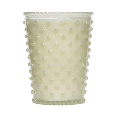 Simpatico White Flower Hobnail Candle