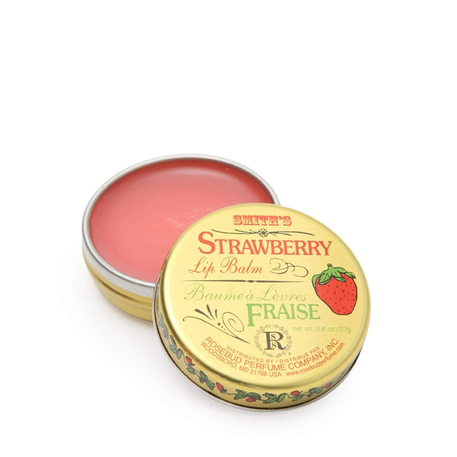 Smith's Rosebud Strawberry Lip Balm - Tin