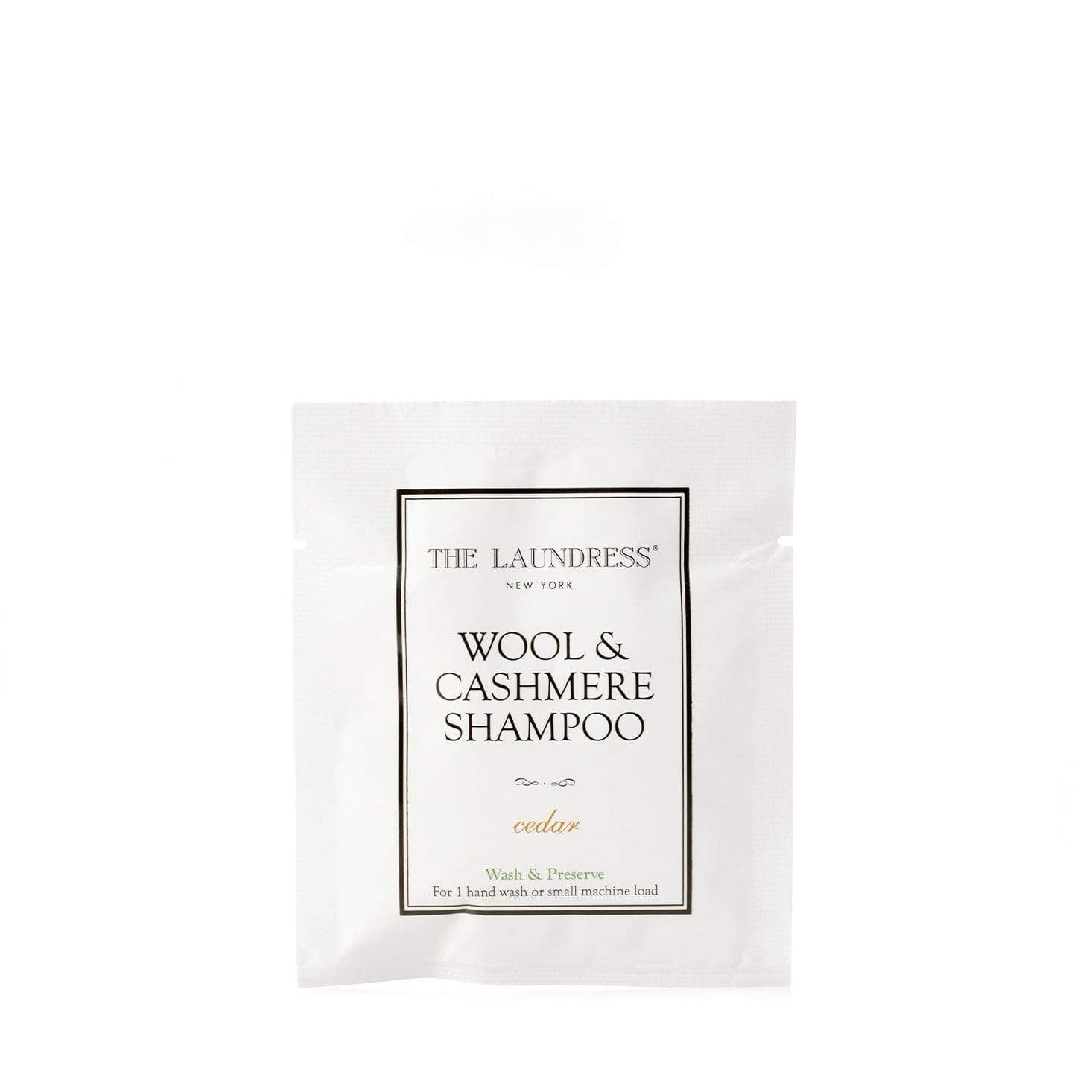 The Laundress Wool & Cashmere Shampoo Sachet - Cedar