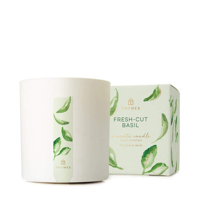 Thymes Fresh Cut Basil Boxed Candle