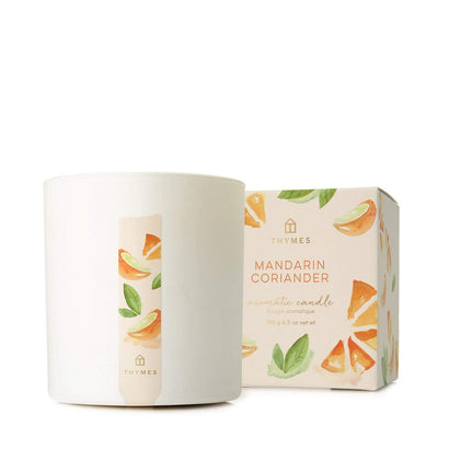 Thymes Mandarin Coriander Boxed Candle