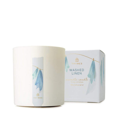Thymes Washed Linen Candle