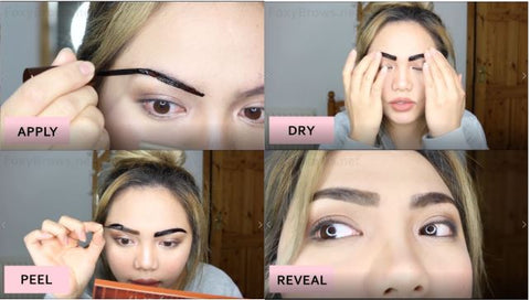 how to use eyebrow tattoo tint