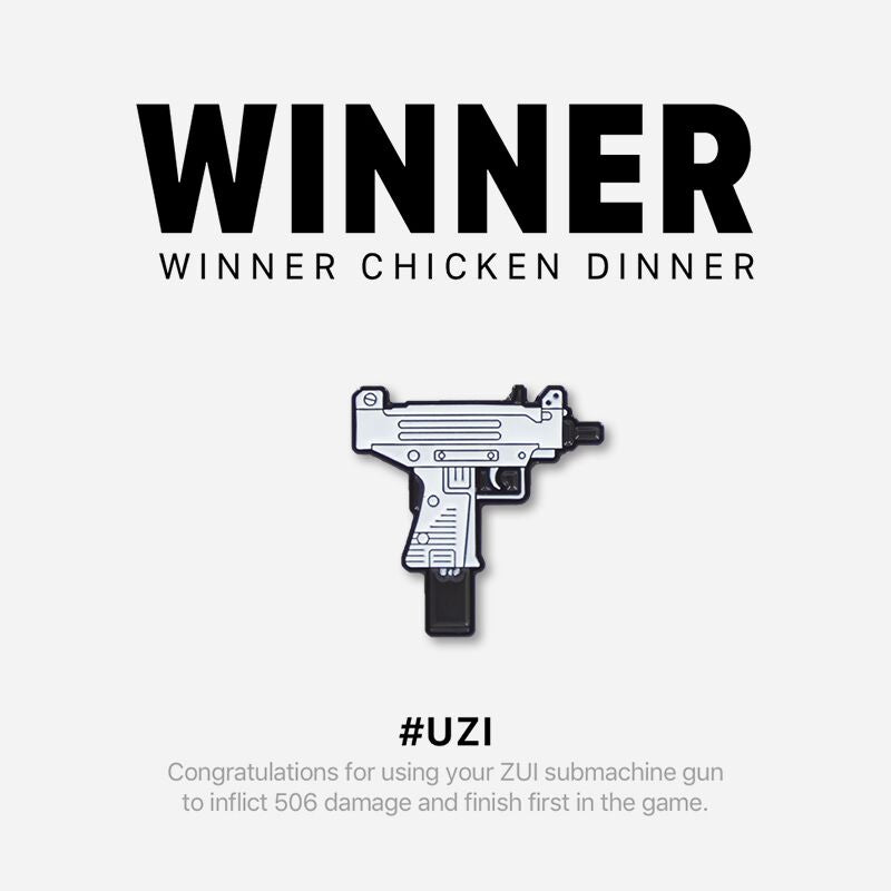 """White Uzi"" Pin"