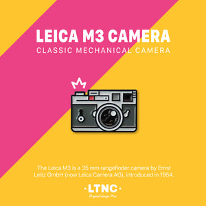 """LEICA M3 Grey "" Pin"