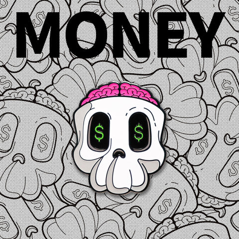 """Money Skull"" Pin"