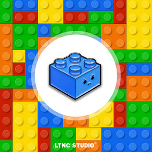 """Blue Brick"" Pin"