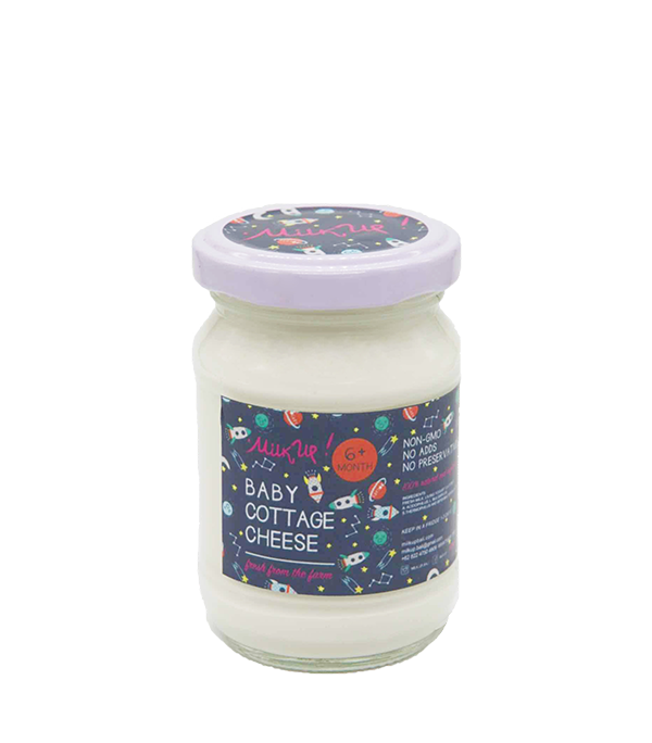 Baby Cottage Cheese 3,5%, 140ml, glass