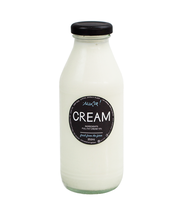 Cream 15%, 350ml, glass