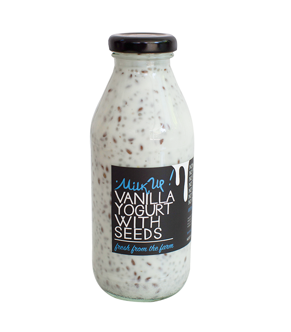 Vanilla Drinkable Yogurt With Chia & Flex Seeds 2,5%, 350ml, glass