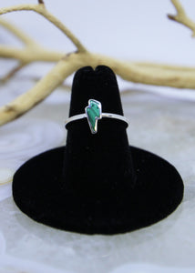 Malachite Lightening Bolt Ring