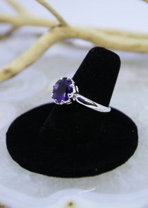 Amethyst Faceted Ring (Size 7.5)