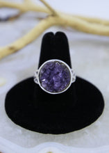 Load image into Gallery viewer, Amethyst Raw Ring (Size 8.5)
