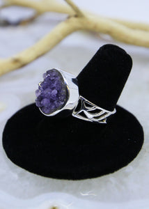 Amethyst Raw Ring (Size 8.5)