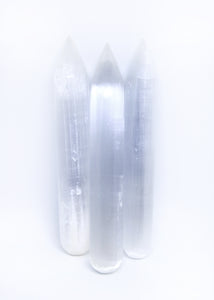 Selenite Point Wand