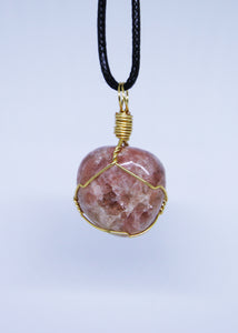 Sunstone Wire Wrapped Pendant