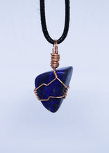Load image into Gallery viewer, Lapis Lazuli Wire Wrapped Pendant