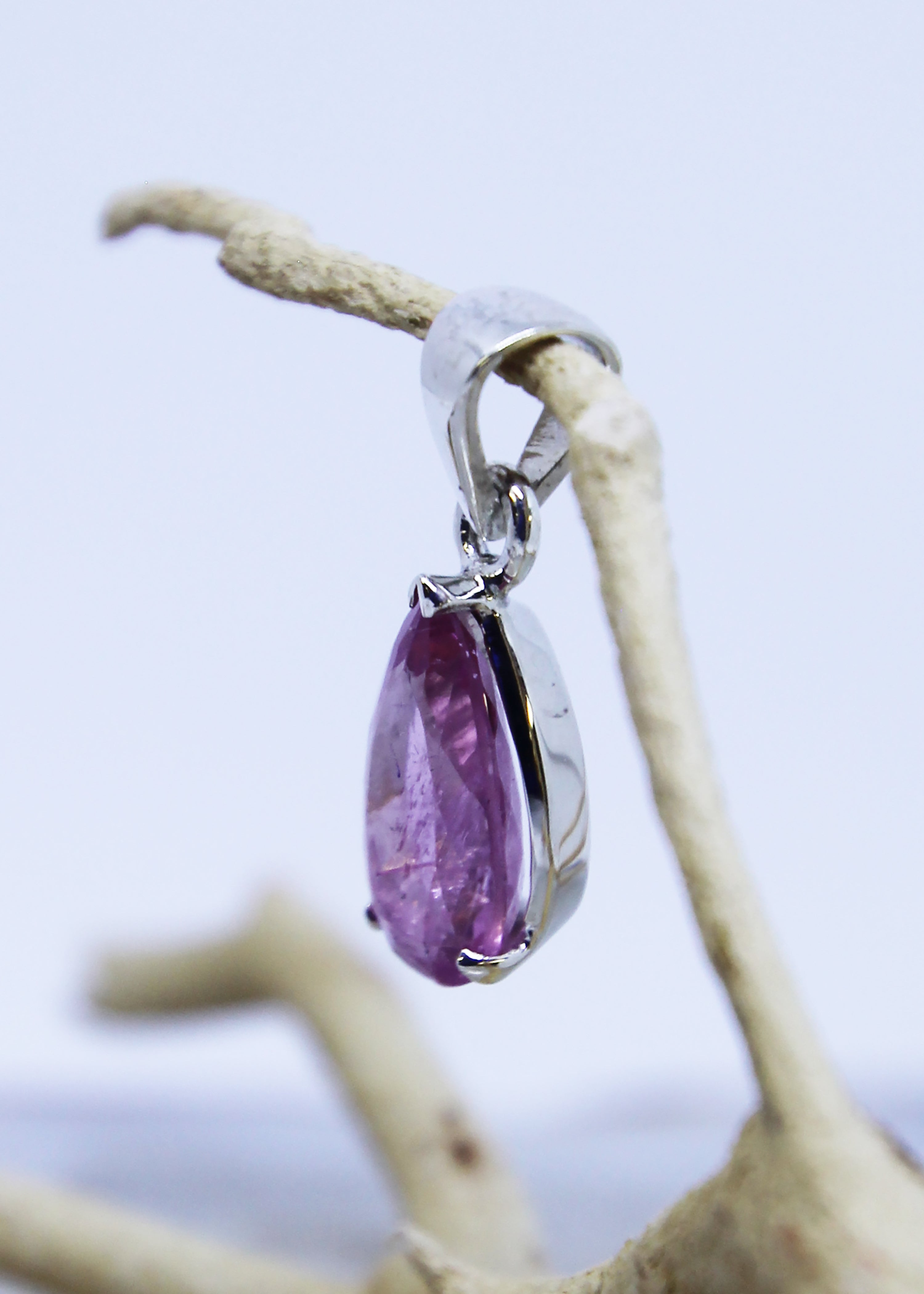 Pink Tourmaline Faceted Pendant