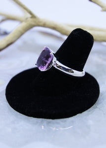 Kunzite Faceted Ring (Size 8.5)