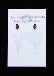 Garnet Faceted Earrings