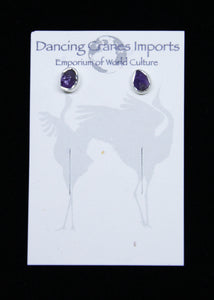 Amethyst Raw Earrings Irregular*