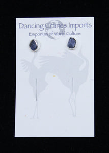 Sapphire Raw Earrings Irregular*