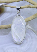 Load image into Gallery viewer, Rainbow Moonstone Faceted Pendant