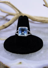 Load image into Gallery viewer, Blue Topaz Faceted Ring (Size 9)