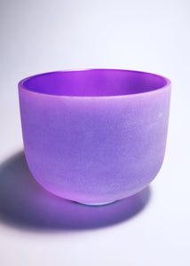 Purple Crystal Singing Bowl (A Note - Third Eye Chakra)