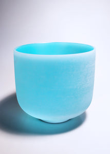 Turquoise Crystal Singing Bowl (G Note - Throat Chakra)