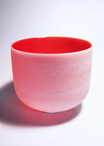 Red Crystal Singing Bowl (C Note - Root Chakra)