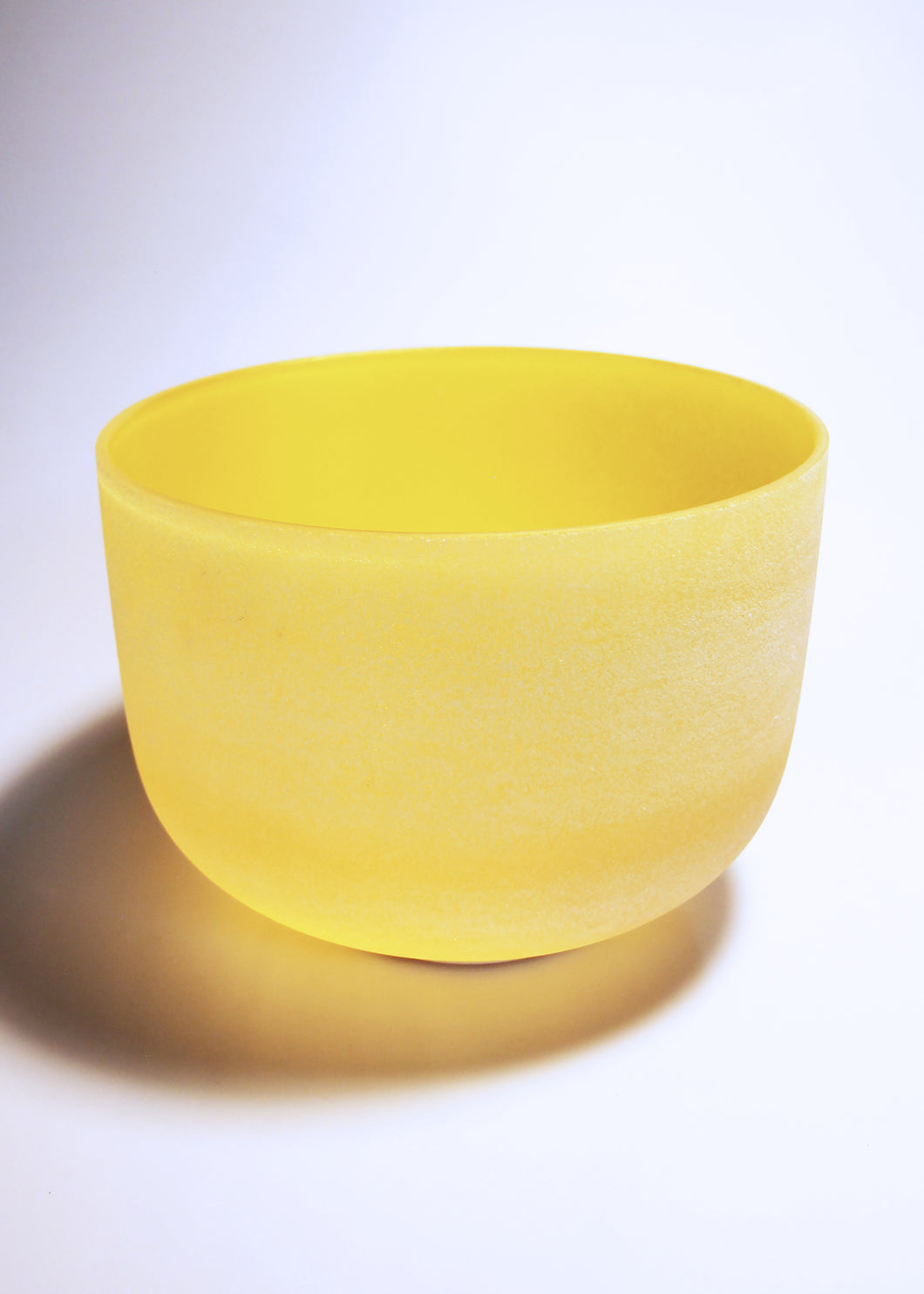 Yellow Crystal Singing Bowl (E Note - Solar Plexus Chakra)