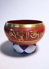 Load image into Gallery viewer, Red Tibetan Singing Bowl