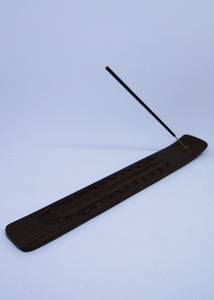 Floral Etched Incense Holder