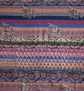 Purple Striped Elephant Tapestry