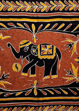 Load image into Gallery viewer, Batik Elephant Tapestry