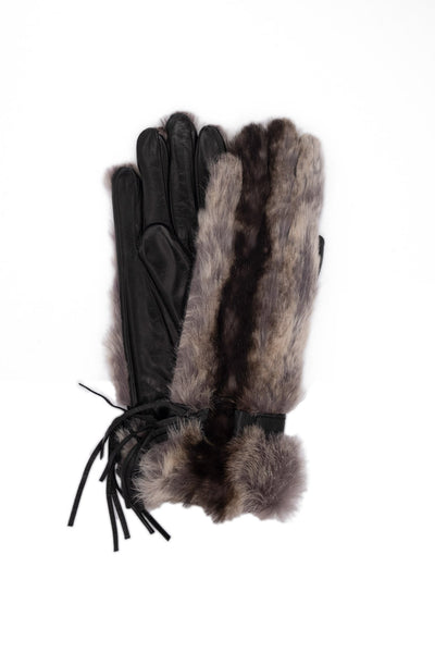 Gloves model 'BROS' - RABBIT OUTSIDE CASHMERE LINED (by Sermoneta)