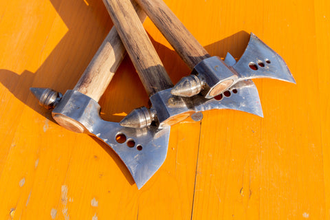 axes ready for throwing