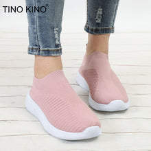 Load image into Gallery viewer, Women Flat Knitted Sneakers