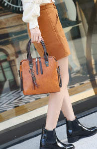 Vintage Leather Hand-Shoulder-CrossBody Bag