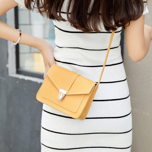 Small Solid Color Crossbody Bag