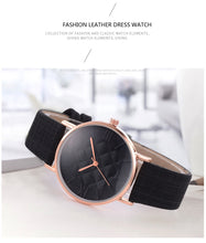Load image into Gallery viewer, Mattress Printed Vintage Leather  Strapped Watch