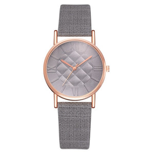 Mattress Printed Vintage Leather  Strapped Watch